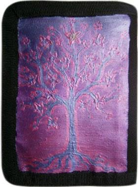 Цветущее дерево кошелек ручной работы.