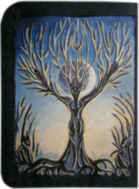 Дерево кошелек ручной работы.