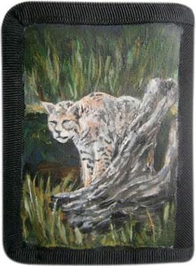 Тростниковый кот кошелек ручной работы.