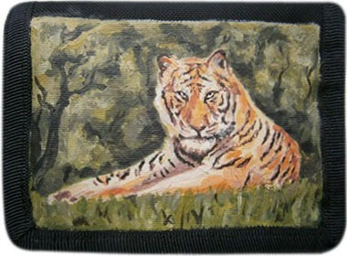 Тигр кошелек ручной работы.
