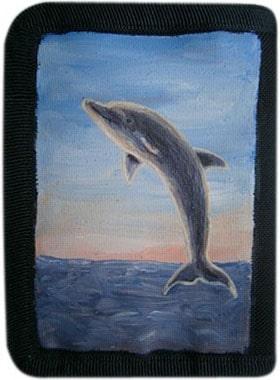 Дельфин кошелек ручной работы.