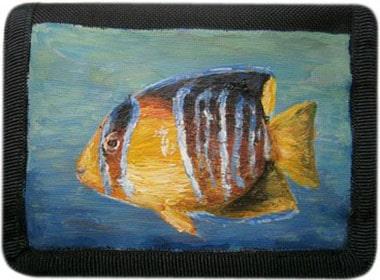 Рыбка кошелек ручной работы.