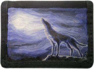Волк кошелек ручной работы.