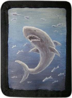 Акула кошелек ручной работы.