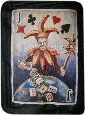 Джокер кошелек ручной работы.