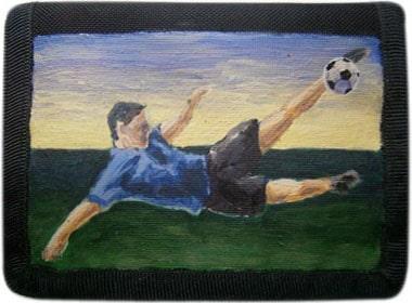 Футболист кошелек ручной работы.