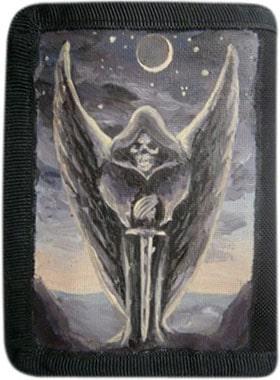 Ангел смерти кошелек ручной работы.