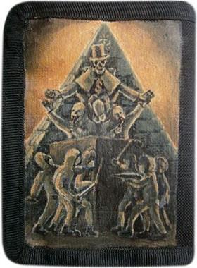 Пирамида власти кошелек ручной работы.