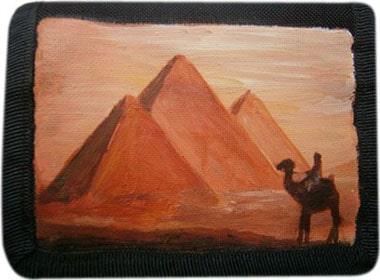 Пирамиды кошелек ручной работы.