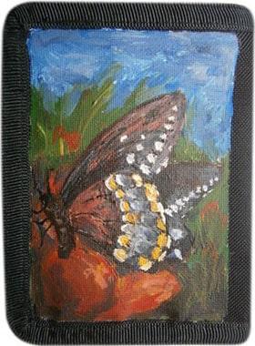 Бабочка кошелек ручной работы.