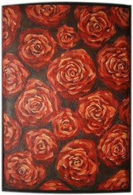 Розы чехол для планшета с художественной росписью.