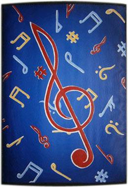 Музыка чехол для планшета с художественной росписью.