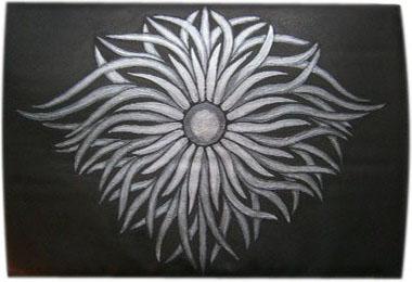 Орнамент чехол для планшета с художественной росписью.