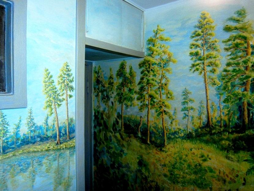 Художественная роспись стен кухни. Качественная роспись стен.