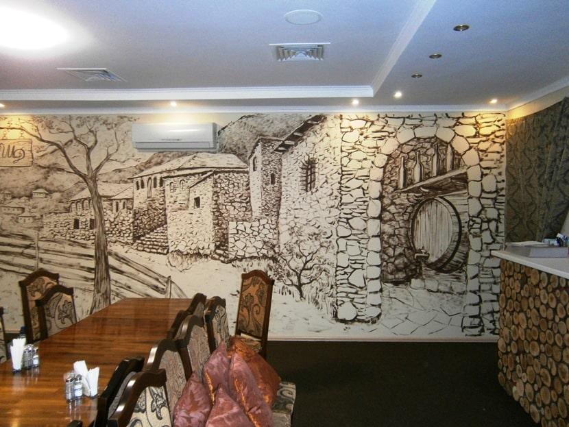 Роспись стен ресторанов. Арка.