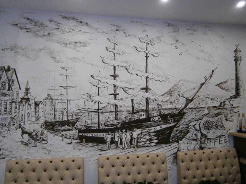 Декор стен в помещении. Декор стен красками.