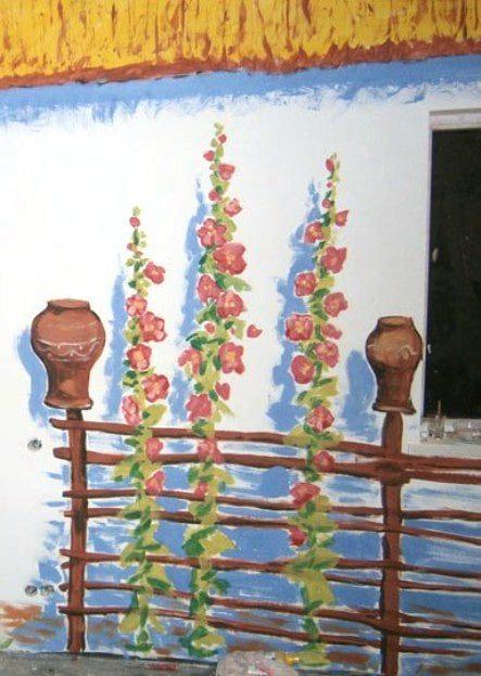 Закажи роспись стен в украинском стиле. Фото.