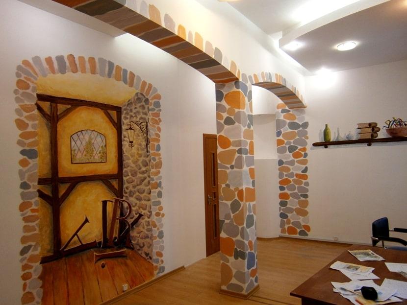 Декор стен. Расценки на роспись стен и потолков.
