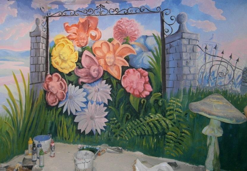 Роспись детской комнаты. Роспись стен цена за 1м квадратный.
