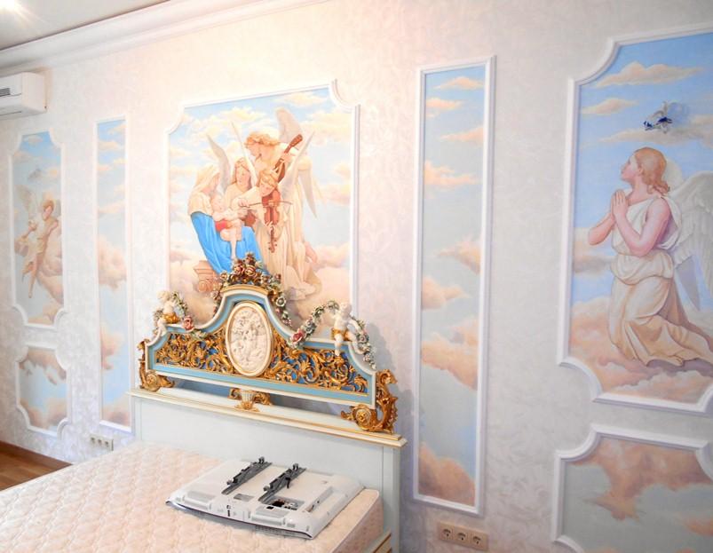 Роспись стен в стиле барокко, декор барокко.