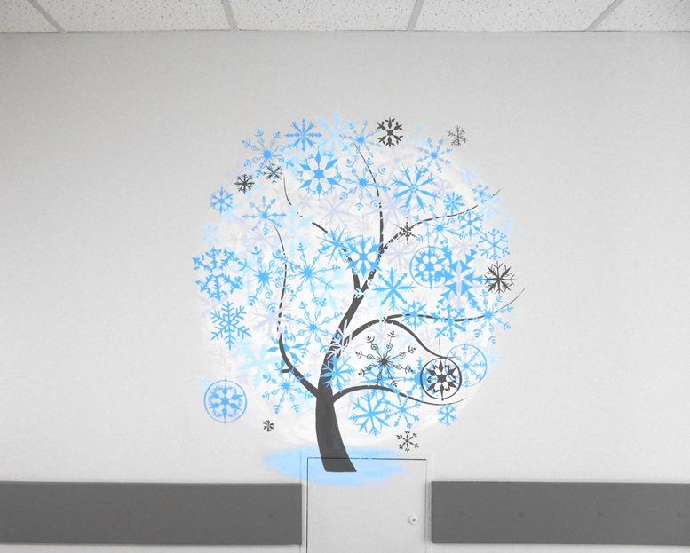 Декор «Зима», дизайн детской комнаты для детей.