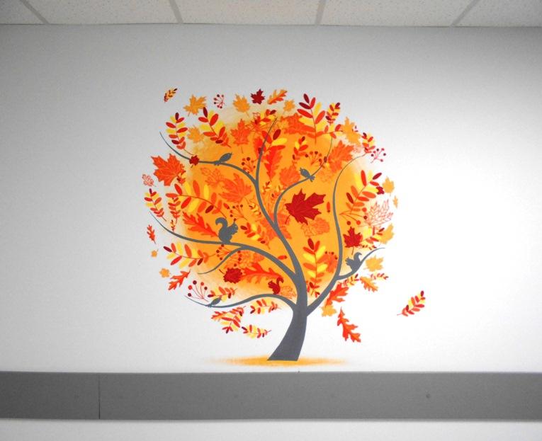 Декор стен. Осень картинки, фото.