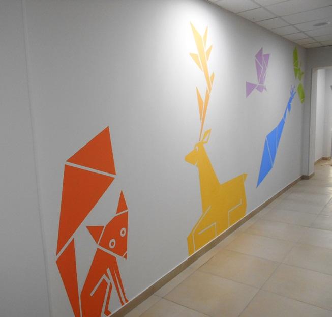 Лисенок рисунок, фото. Декор стен.