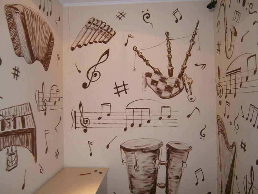 Нужна роспись стены? Интересная роспись стен недорого.