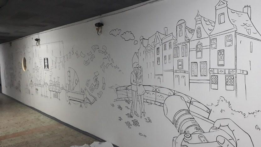 Декор стен в современном стиле, декор большой стены.