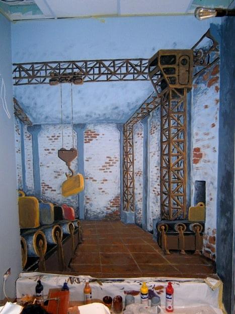 Оформление стен росписью. Роспись стен недорого.