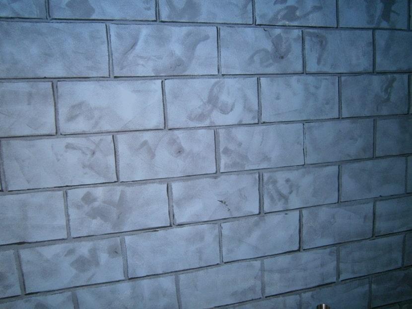 Стена. Декор. покрытия. Декор «Кирпичики».