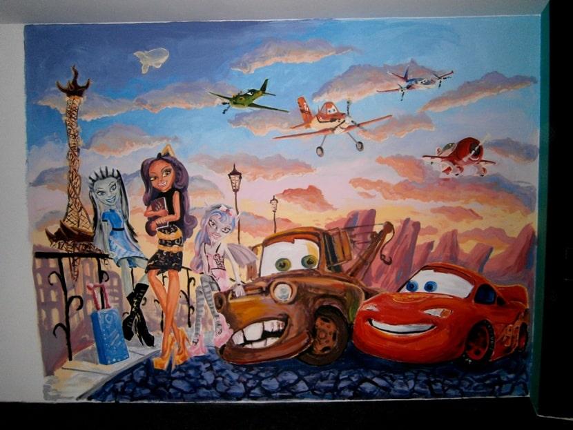 Роспись детской комнаты. Роспись стен в детской комнате для девочки.