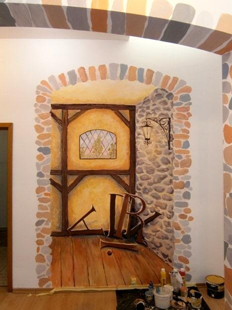 Дизайн интерьера. Художественная роспись стен.