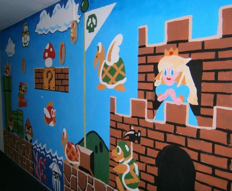 Расценки, цена на роспись стен красками.