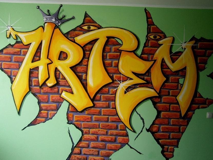 Дизайн, дизайнерская роспись стен.