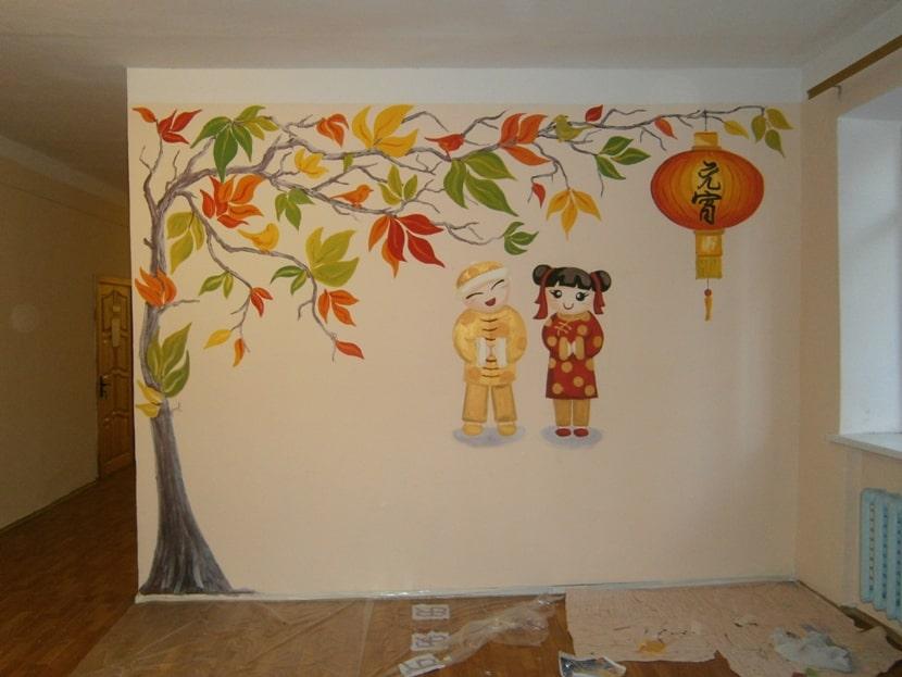 Художественная роспись стен в интерьере. Цены.