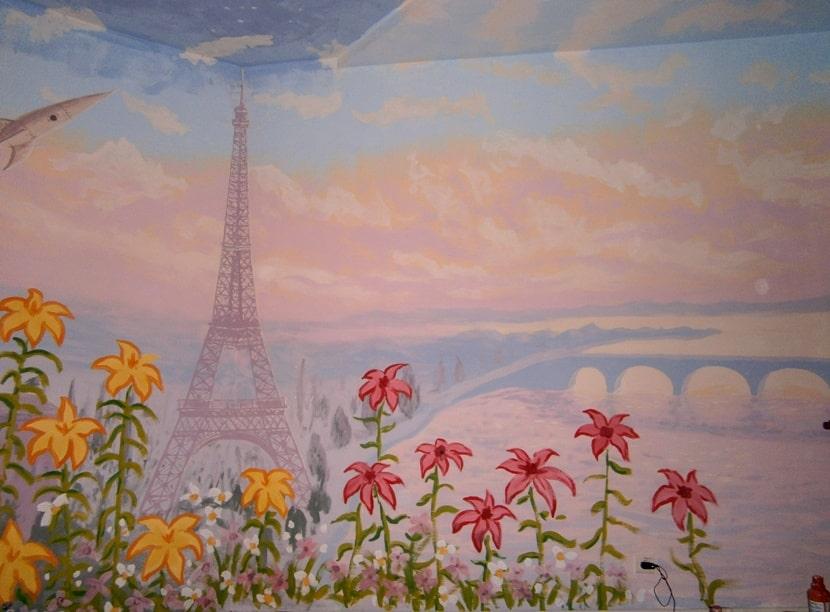 Художественная роспись стен. Фото, картинки. Париж.