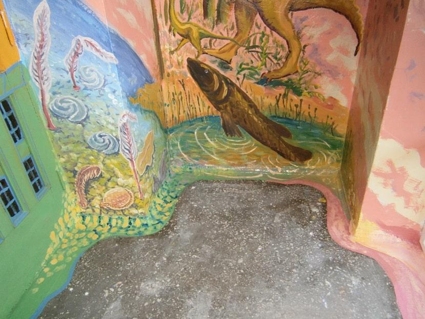 Роспись стен. Сказка в детском саду, классе. Фото.